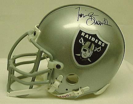 Tim Brown, Oakland Raiders Autographed Riddell Authentic Mini Football Helmet