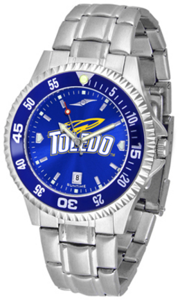 Toledo Rockets Competitor AnoChrome Men's Watch with Steel Band and Colored Bezel