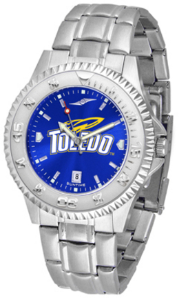 Toledo Rockets Competitor AnoChrome Men's Watch with Steel Band