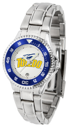 Toledo Rockets Competitor Ladies Watch with Steel Band