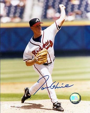 "Tom Glavine ""Throwing Ball"" Autographed Atlanta Braves 8"" x 10"" Photograph (Unframed)"