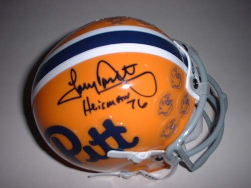 "Tony Dorsett Autographed Limited Edition Pittsburgh Panthers Mini Helmet with ""Heisman 76"" Inscription"