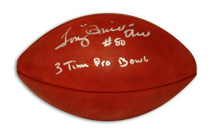"Tony Hill Autographed NFL Football Inscribed with ""Thrill"" & ""3 Time Pro Bowl"