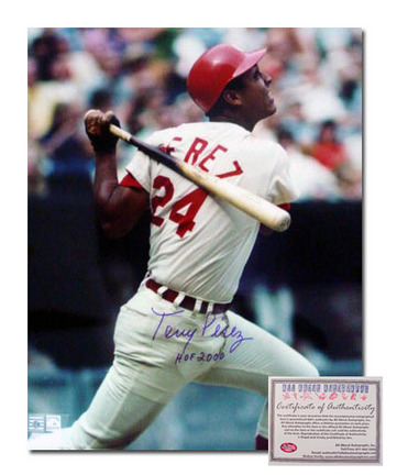 "Tony Perez Cincinnati Reds Autographed 16"" x 20"" Photograph with ""HOF 2000"" Inscription (Unframed)"