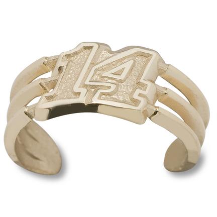 Tony Stewart #14 Toe Ring - 10KT Gold Jewelry