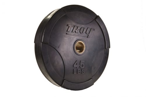 Troy Barbell BO-045SBP Interlocking Olympic Rubber Bumper Plate - 45 Pounds