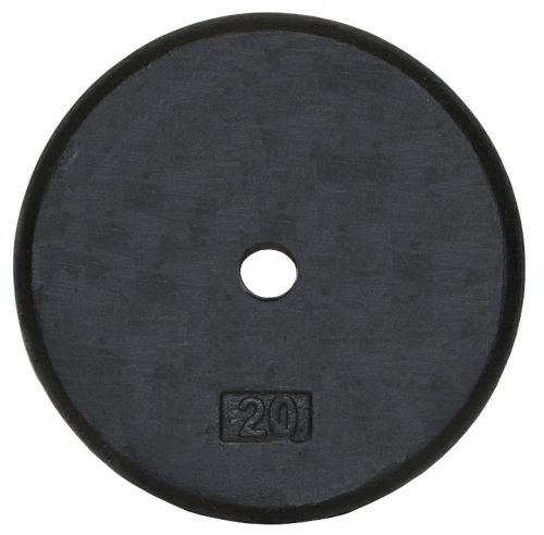 Troy Barbell BR-020 Regular Black 1 Inch Weight Plate - 20 Pounds