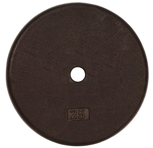 Troy Barbell BR-025 Regular Black 1 Inch Weight Plate - 25 Pounds
