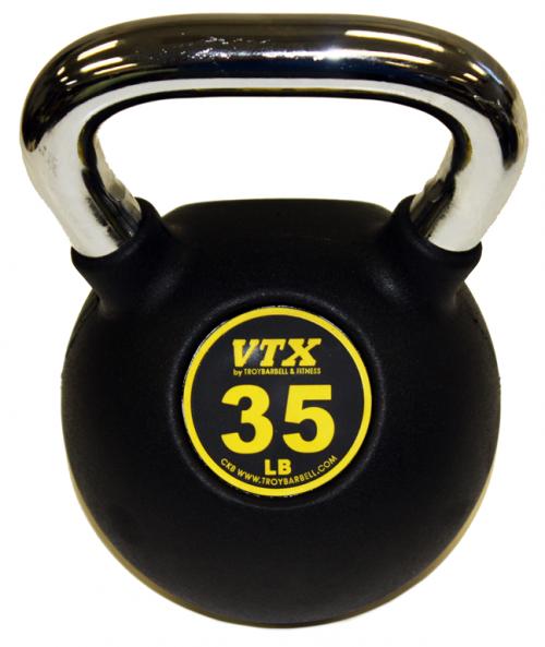Troy Barbell CKB-035 35 lbs Rubber Club Kettlebell Yellow