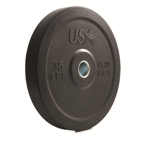 Troy Barbell GBO-035SBP 35 lbs USA Rubber Bumper Plate Black