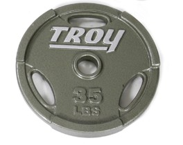 Troy Barbell GO-035 Inter-locking Olympic Grip Plate - 35 Pounds
