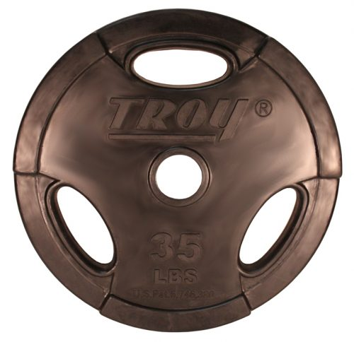 Troy Barbell GO-035R Rubber Encased Olympic Grip InterLocking Plate - 35 Pounds