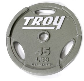 Troy Barbell GO-045 Inter-locking Olympic Grip Plate - 45 Pounds