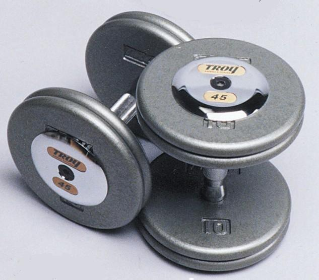 Troy Barbell HFD-52.5C Pro-Style Dumbbell With Chrome End Cap - 52.5 Pounds - Sold as Pairs