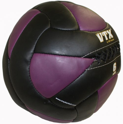 Troy Barbell PWB-006 6 lbs Leather Wall Ball Black & Purple