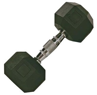 Troy Barbell SD-050R VTX 8-Sided Rubber Encased Dumbbell - 50 Pounds
