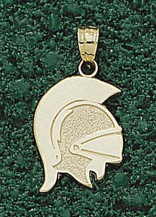 "Troy State Trojans ""Trojan Mask"" Pendant - 10KT Gold Jewelry"