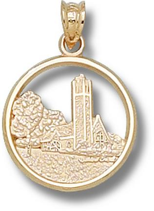 "Tufts Jumbos ""Chapel"" Pendant - 10KT Gold Jewelry"
