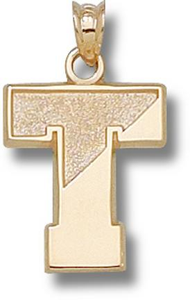 """Tufts Jumbos """"T"""" Pendant - 10KT Gold Jewelry"""