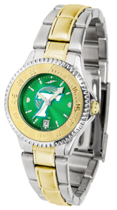 Tulane Green Wave Competitor AnoChrome Ladies Watch with Two-Tone Band
