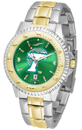 Tulane Green Wave Competitor AnoChrome Two Tone Watch
