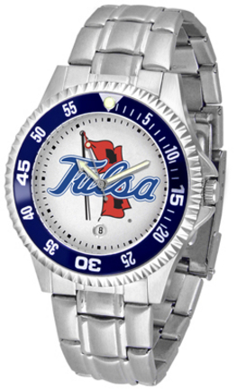 Tulsa Golden Hurricane Competitor Watch with a Metal Band