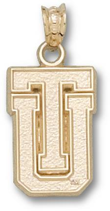 "Tulsa Golden Hurricane ""TU"" Pendant - 10KT Gold Jewelry"