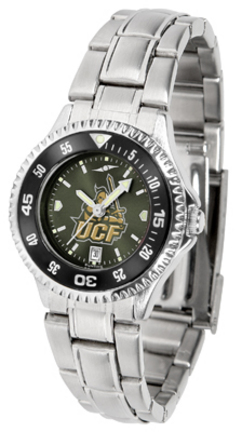 UCF (Central Florida) Knights Competitor AnoChrome Ladies Watch with Steel Band and Colored Bezel