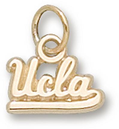 "UCLA Bruins Script ""UCLA"" 1/4"" Charm - 14KT Gold Jewelry"