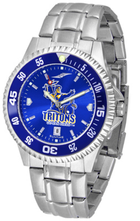 UCSD Tritons Competitor AnoChrome Men's Watch with Steel Band and Colored Bezel