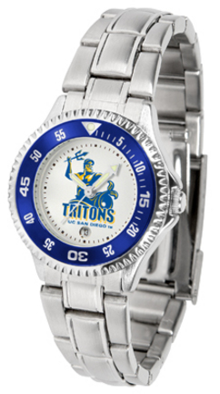 UCSD Tritons Competitor Ladies Watch with Steel Band