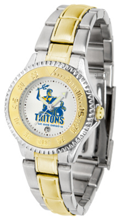 UCSD Tritons Competitor Ladies Watch with Two-Tone Band