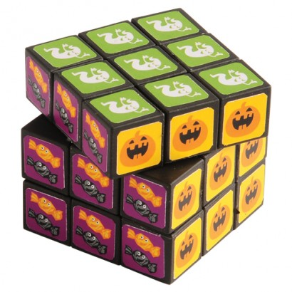 US Toy FA958X7 2.3 x 2.3 in. Halloween Puzzle Cubes - 7 per Pack - Pack of 12