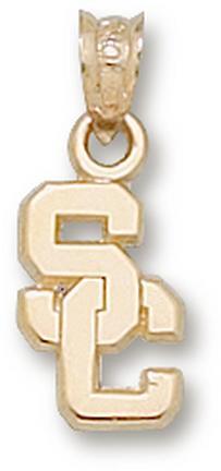 "USC Trojans ""SC"" 7/16"" Pendant - 14KT Gold Jewelry"