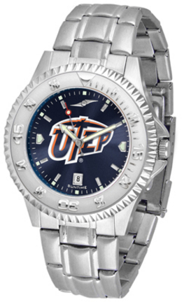 UTEP Texas (El Paso) Miners Competitor AnoChrome Men's Watch with Steel Band