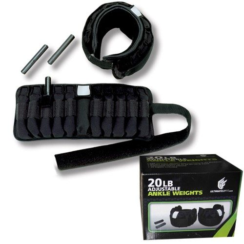 Ultimately Fit UL-100-AW20 20 lbs. Adjustable Ankle Weights
