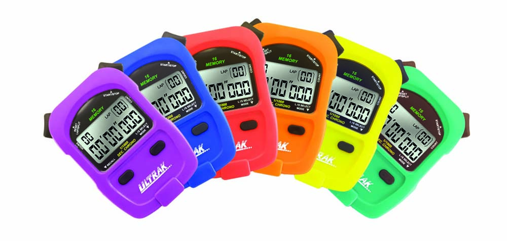 Ultrak 460 Sport Stopwatch (Set of 6 Rainbow Colors)