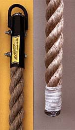 Unmanila Climbing Rope with Whipped End - 18 Feet Long