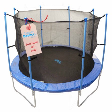 Upper Bounce UBES128 Upper Bounce 8 Pole Trampoline Enclosure Set to fit 12 FT. Trampoline Frames with set of 4 or 8 W-Shaped Legs - Trampoline Not Included