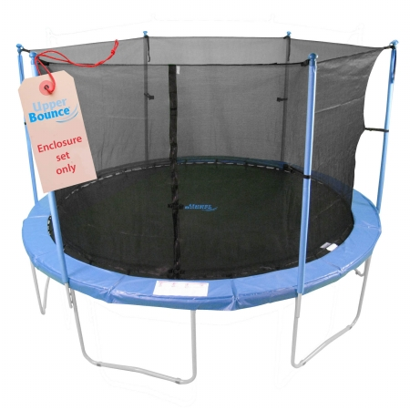 Upper Bounce UBES86 Upper Bounce 6 Pole Trampoline Enclosure Set to fit 8 FT. Trampoline Frames with set of 3 or 6 W-Shaped Legs - Trampoline Not Included
