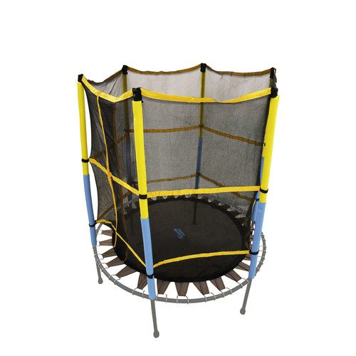 Upper Bounce UBNETMAT-55 55 in. Round Trampoline with Safety Enclosure- Net & Mat Black & yellow