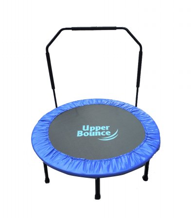 Upper Bounce UBSF01HR-40 Upper Bounce 40 in. Mini Foldable Rebounder Fitness Trampoline with Adjustable Handrail