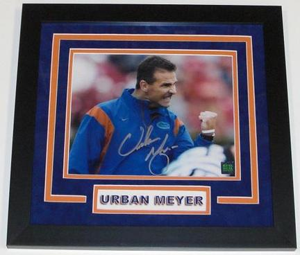 "Urban Meyer Autographed Florida Gators 8"" x 10"" Custom Framed Photograph"