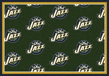 "Utah Jazz 2' 1"" x 7' 8"" Team Repeat Area Rug Runner"