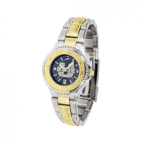Utah State Aggies Competitor AnoChrome Ladies Watch with Two-Tone Band