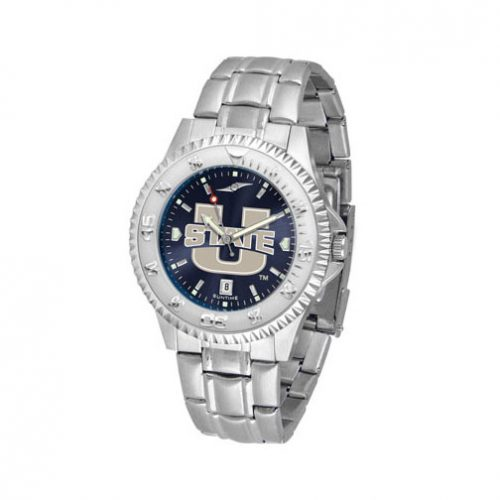 Utah State Aggies Competitor AnoChrome Men's Watch with Steel Band