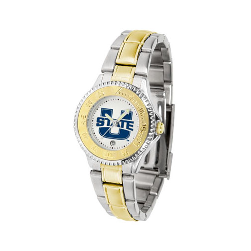 Utah State Aggies Competitor Ladies Watch with Two-Tone Band