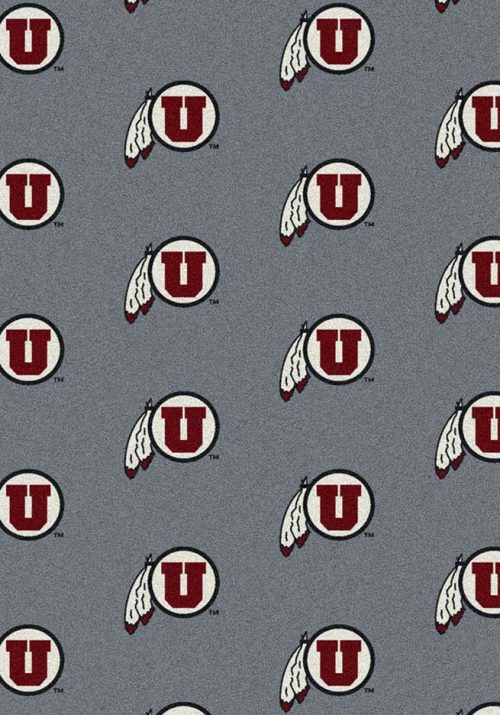 "Utah Utes 3' 10"" x 5' 4"" Team Repeat Area Rug"