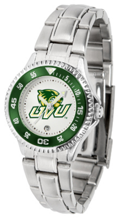 Utah Valley State (UVSC) Wolverines Competitor Ladies Watch with Steel Band