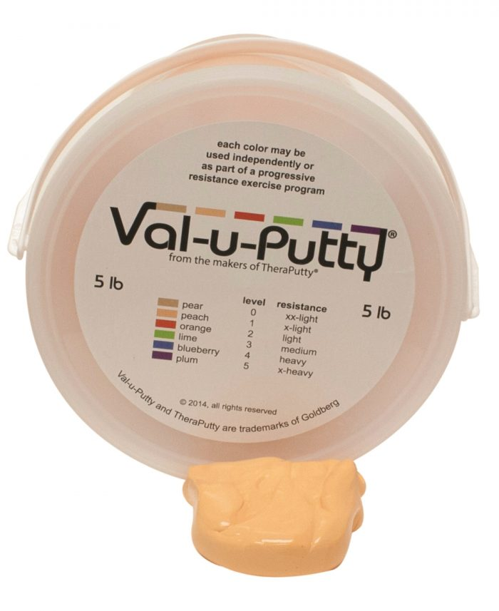Val-U-Putty 10-3951 5 lbs Exercise Putty Peach - Extra Soft